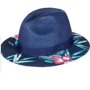 ROXY Straw Fedora Hat for Women NWT
